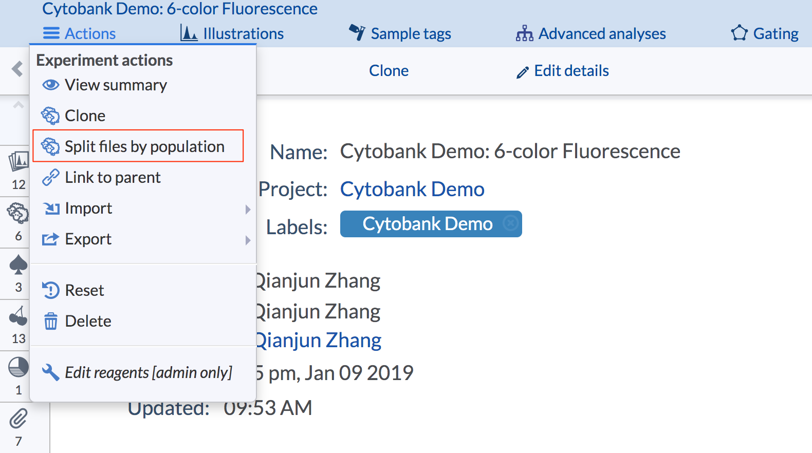Cytobank_Demo__6-color_Fluorescence_-_Experiment_Summary_-_Cytobank.png